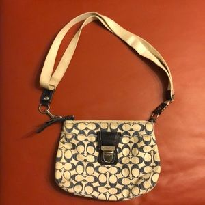Coach fabric crossbody with adjustable straps
